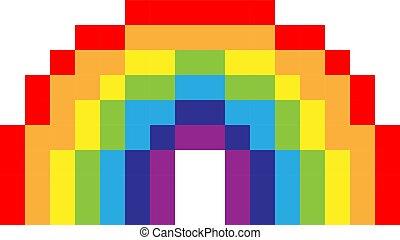 Vector Pixel Rainbow Vector Rainbow 8 Bit Pixel Art Rainbow