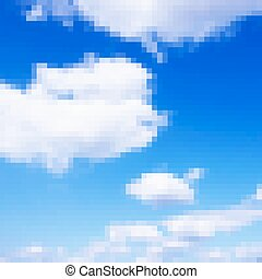 Pixel art sky vector photorealistic background