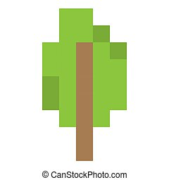 Pixel art tree - Simple pixel art tree icon