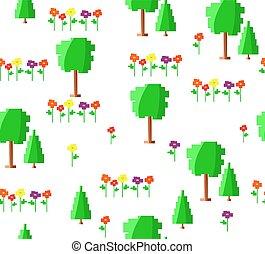 Art Vert Jeux Forêt Fond Conception Pixel Art Jeux Texture