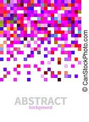 pink abstract vector mosaic