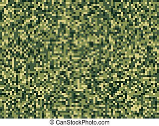Pixel camuflage green forest seamless pattern