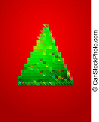 pixel christmas tree