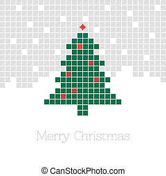 pixel Christmas tree.