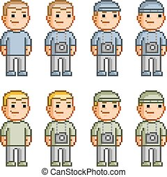 Pixel collection of photographers
