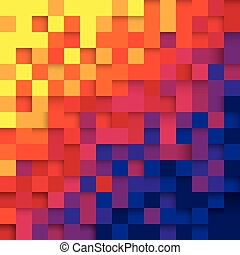 pixel, color, resumen, plano de fondo