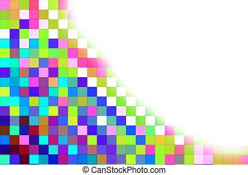 pixel, cor experiência, e, espaço branco
