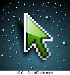 Pixel Cursor, vector Eps10 illustration