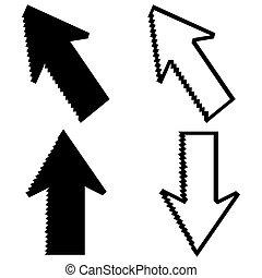 Pixel cursors mouse arrow pointers