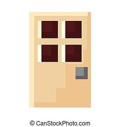 pixel door entrance