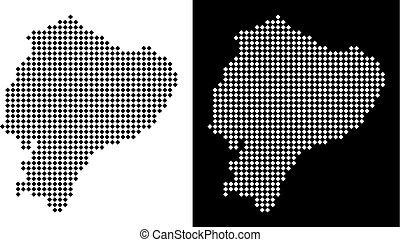 Pixel Ecuador Map