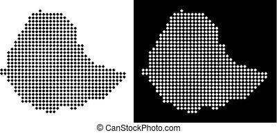 Pixel Ethiopia Map