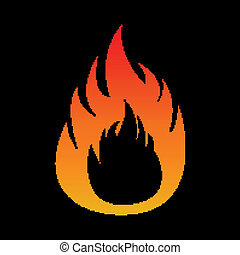 Pixel flame fire
