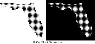 Pixel Florida Map