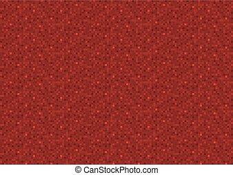 pixel, fond, rouges