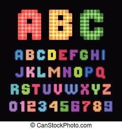 pixel, font.