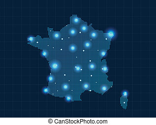 pixel France map