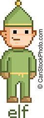 Pixel funny elf