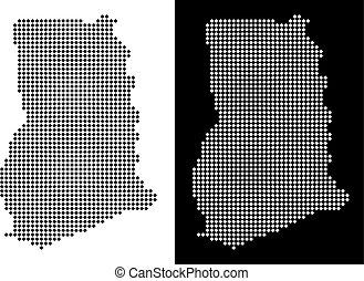 Pixel Ghana Map