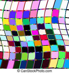pixel, glitch, verbogen, grafik