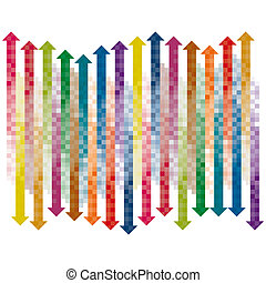 Pixel gradient arrows collection