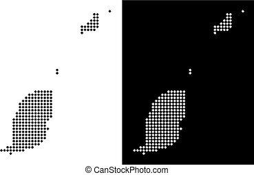 Pixel Grenada Map