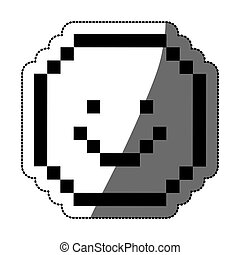 Pixel happy face design