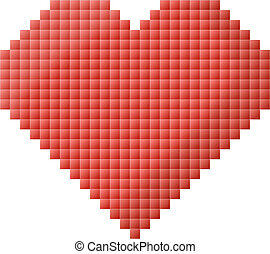 Isolated Pixel Heart Design Pixel Heart Icon Love Passion