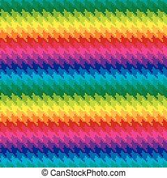 Pixel Houndstooth in Rainbow Colors