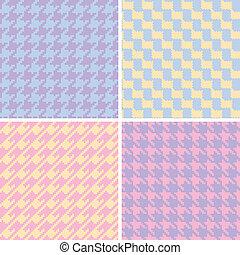 Pixel Houndstooth Patterns_Pastels