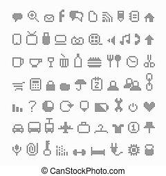 pixel, icônes
