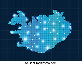 pixel Iceland map