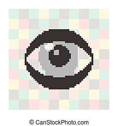 pixel icon eye on a square background