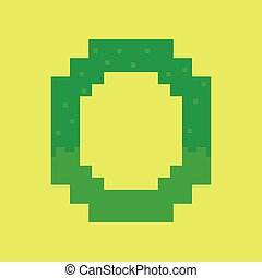 pixel icon in flat style pretzel