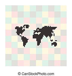 pixel icon map on a square background