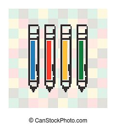pixel icon pen on a square background