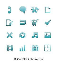 Pixel icons set for navigation