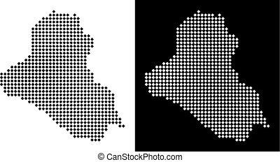 Pixel Iraq Map