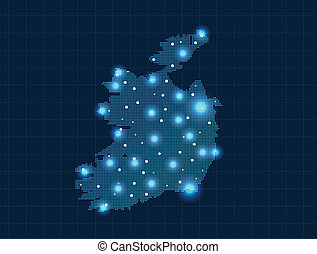 pixel Ireland map
