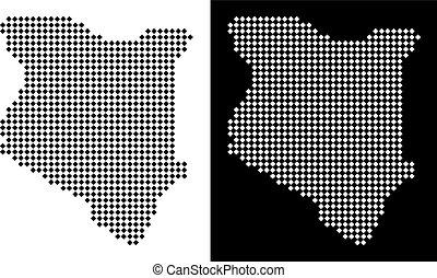 Pixel Kenya Map