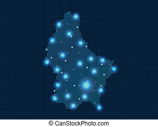 pixel Luxembourg map