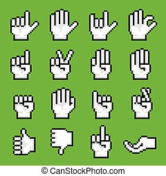 pixel, mano, gestures.