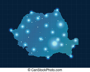 pixel map of Romania