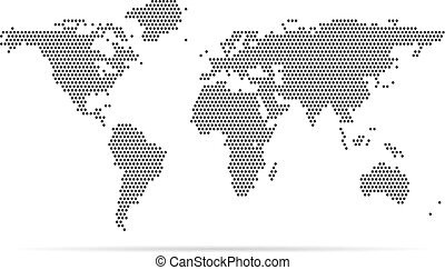 Dotted world map vector eps vector search clip art illustration pixel map of world dotted world map vector illustration gumiabroncs Choice Image