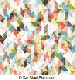 pixel, modèle, coloré, triangles, seamless