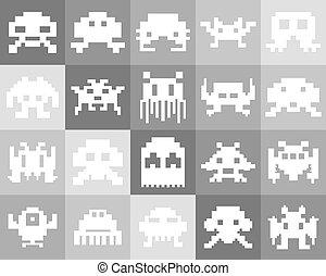 Pixel Monster icon set
