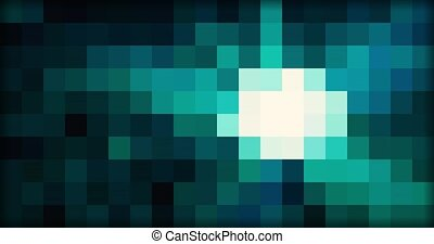 Pixel multicolored bright abstract moving background.