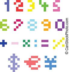 pixel, números