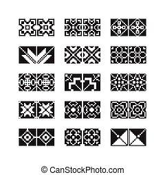 pixel, ornamento, vetorial, jogo