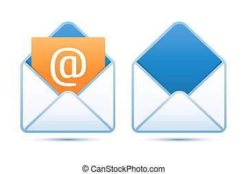 Pixel perfect email icons Vector illustration for your...